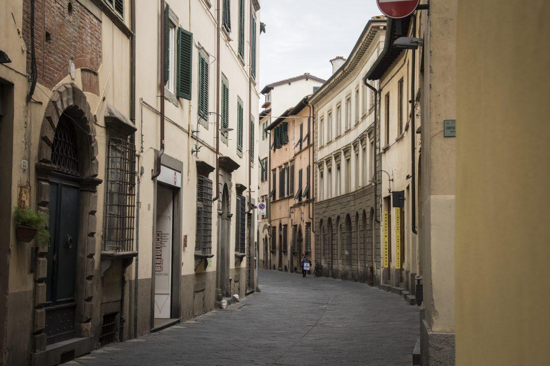italiaanse straat in Lucca